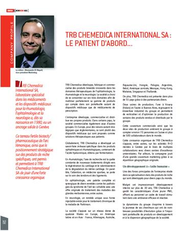 TRB Chemedica in Swiss Knowhow