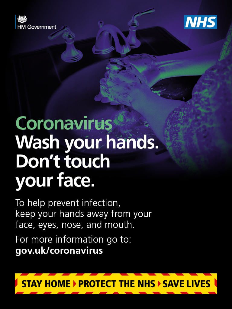 Coronavirus - Wash your hands - don't touch your face
